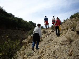 Los voluntarios realizaron un interesante recorrido por las ramblas. /ANSE
