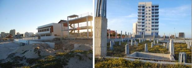 Las urbanizaciones han ocupado gran parte de la costa del Mar Menor, extendiéndose en algunas zonas hacia el interior del Campo de Cartagena.