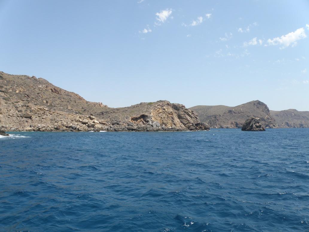 Sección de costa acantilada anexa al Gorguel que está previsto que quede hormigonada en el proyecto del puerto