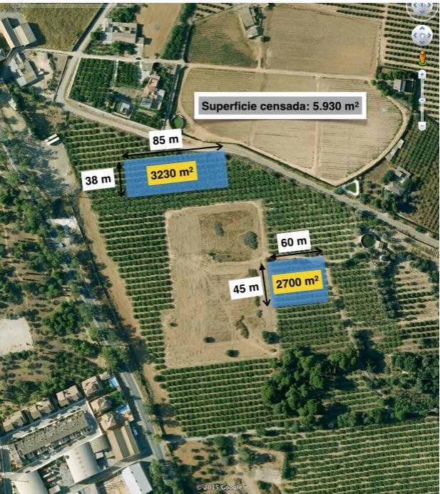 Mapa 2. Localización de las parcelas de muestreo en el Municipio de Cartagena, agosto 2015