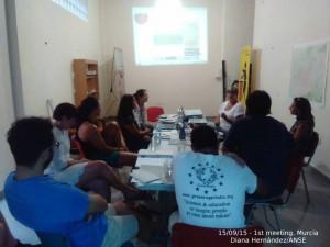 Primera reunión del proyecto en Murcia