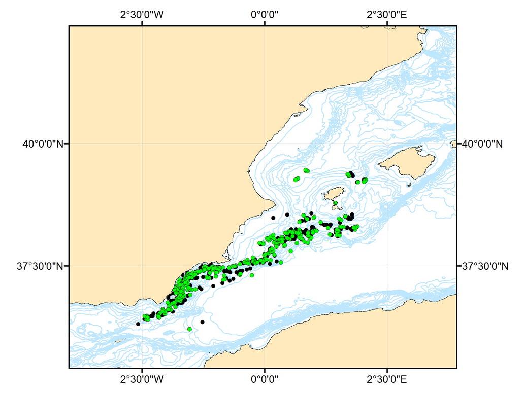 Mapa con varias de las localizaciones proporcionadas por los emisores (CIRCE).
