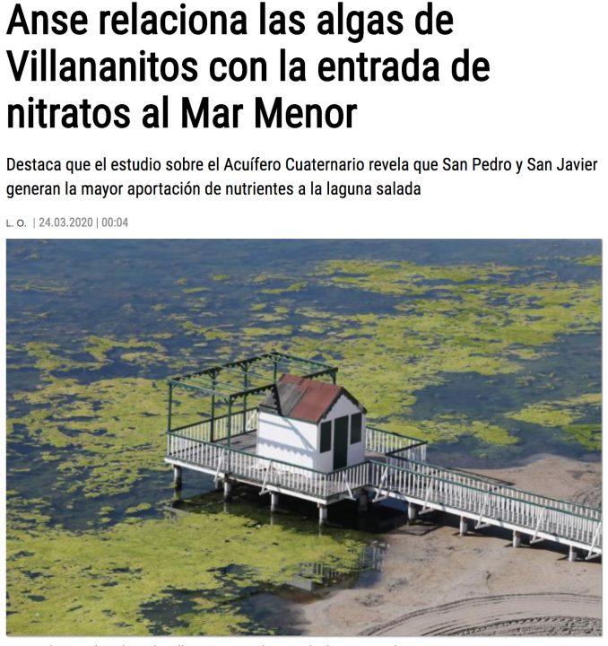 ANSE en la Opinión de Murcia