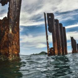 Tablestacas deterioradas en Puerto Mayor