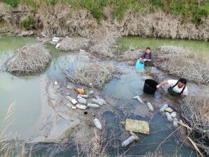 Limpieza basura Rio Segura